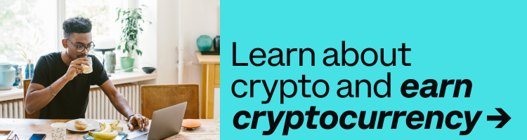 Learn about crypto and earn cryptocurrency