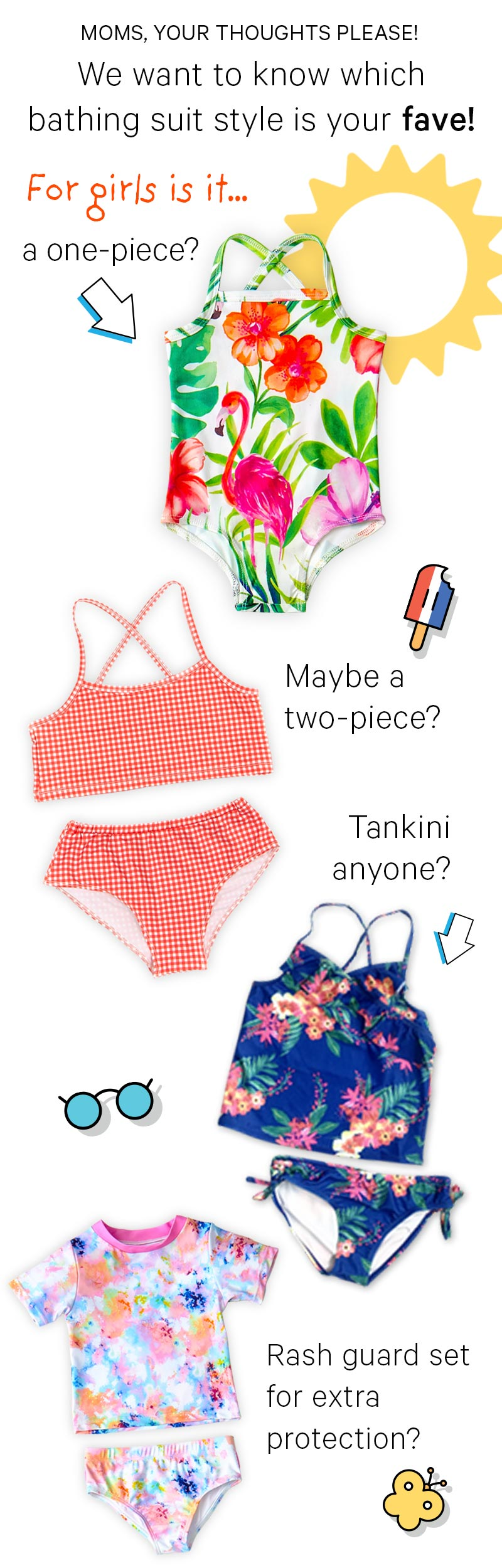 Moms, we want to know which bathing suite style is your fave!