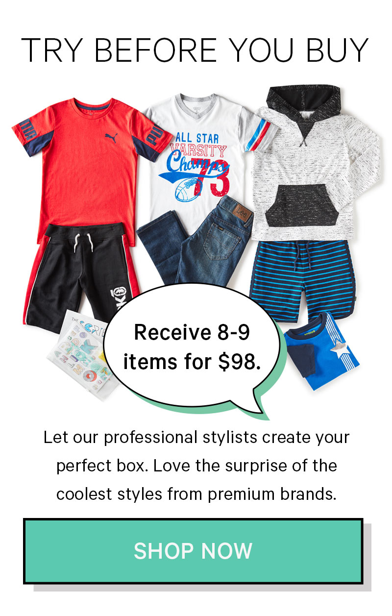 Try Before You Buy: Receive 8-9 items for $98!