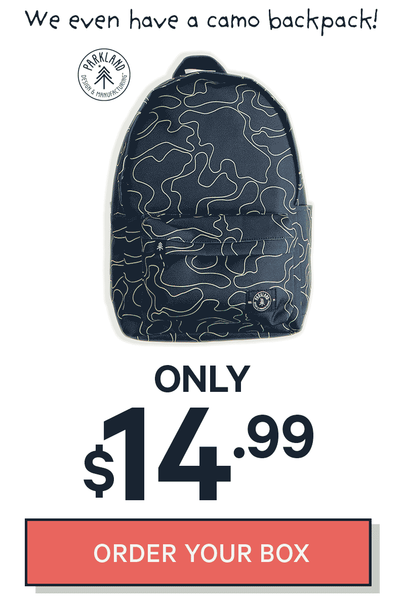 We even have a camo backpack, ONLY $14.99!