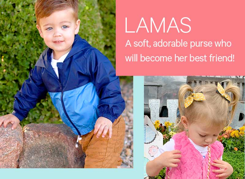 Lamas: A soft, adorable purse who will become her best friend!