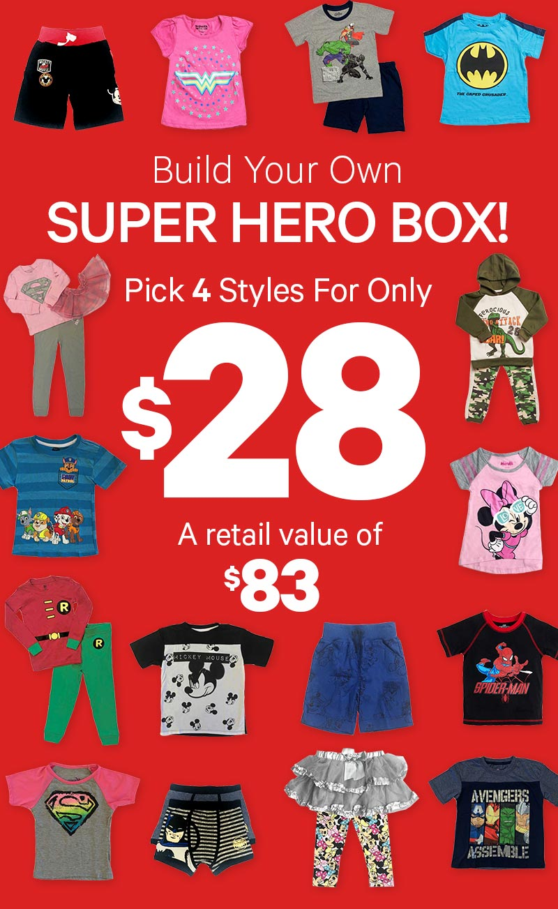 Super Hero Box! 4 items for only $28!