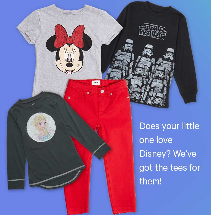 Does your little one love Disney? We've got the tees for them!