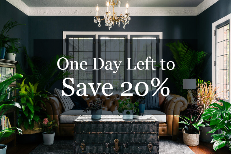 One day left to save 20%.