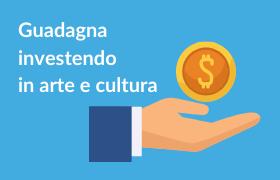 fiscal art, mano che sorregge moneta con segno del dollaro. guadagna investendo in arte e cultura