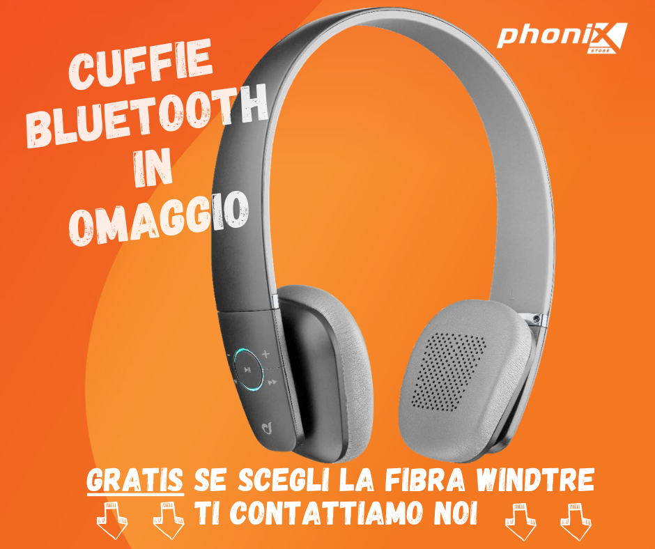 CUFFIE BLUETOOTH IN REGALO