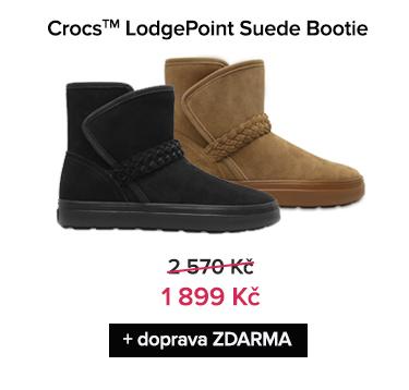 Crocs LodgePoint Suede Bootie