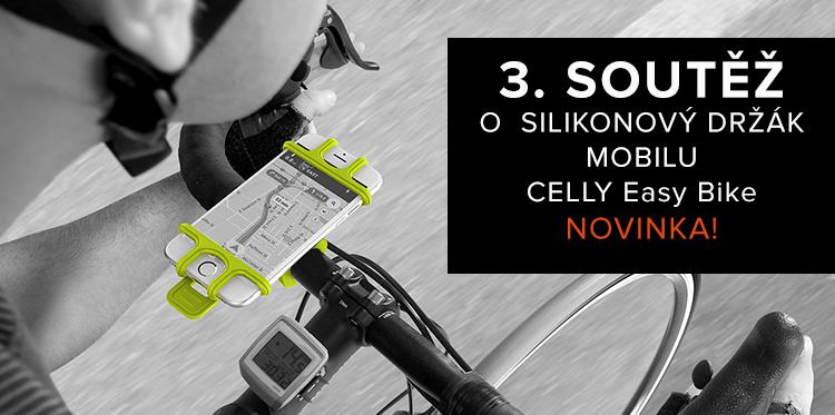 3. SOUTĚŽ o silikonový držák na kolo CELLY