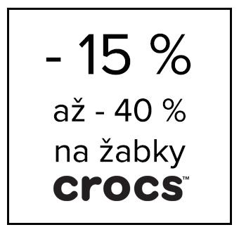 - 15% na žabky Crocs