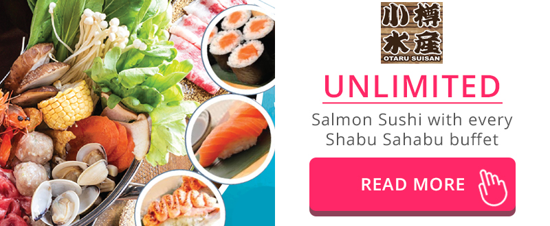 Unlimited Salmon Sushi buffet with Shabu Shabu buffet