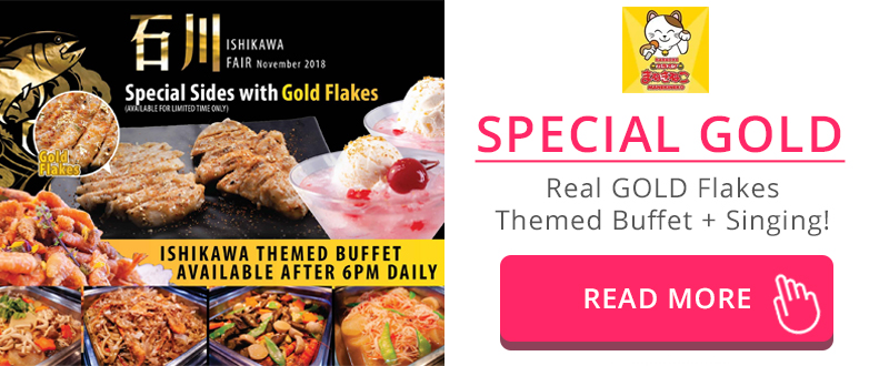 Special GOLD theme buffet and menu