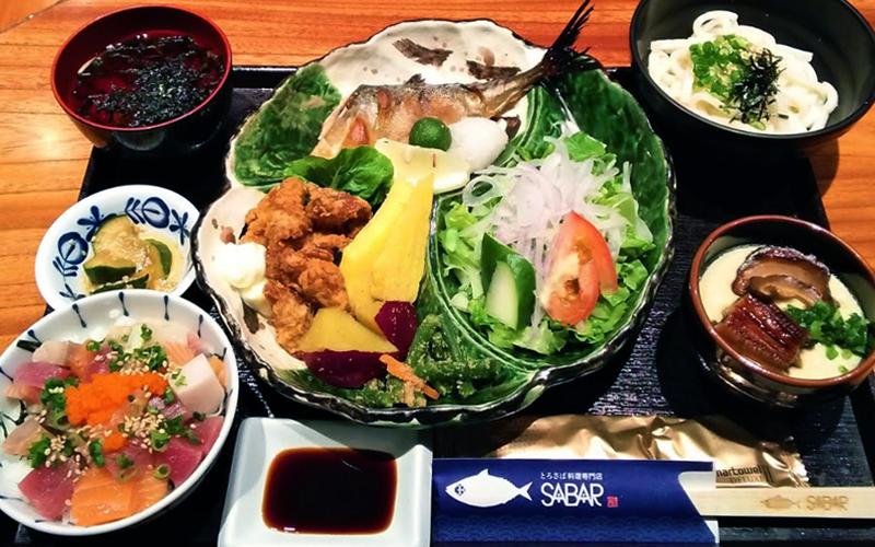 sabar - Choose between Pacific Bluefin Tuna Sashimi or SABAR Gozen Set~