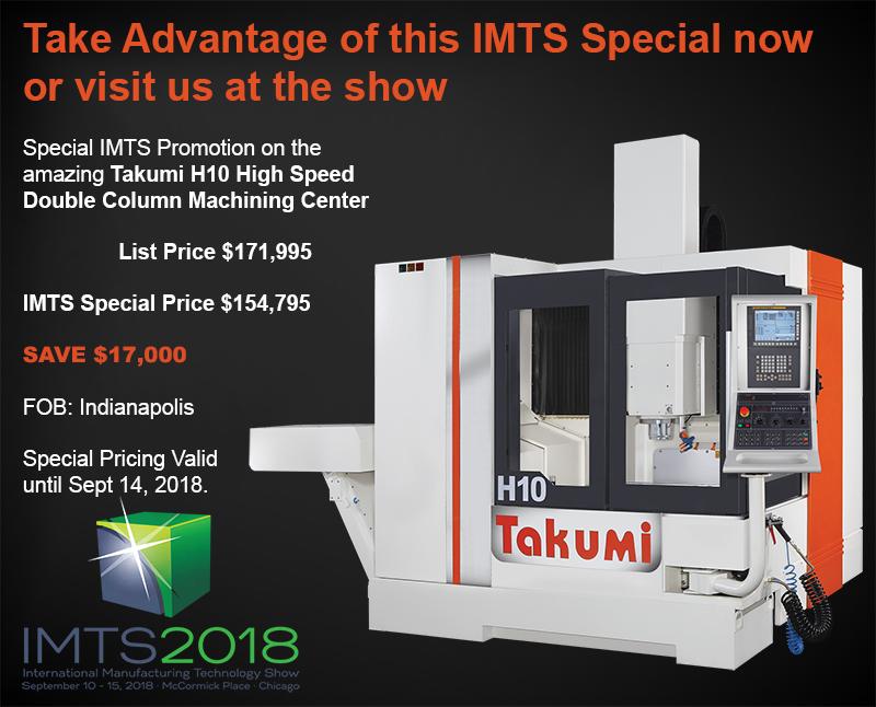 Visit Takumi & AMC at the 2018 IMTS Show
