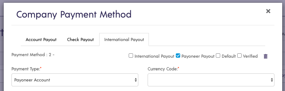 New International Payment Integration