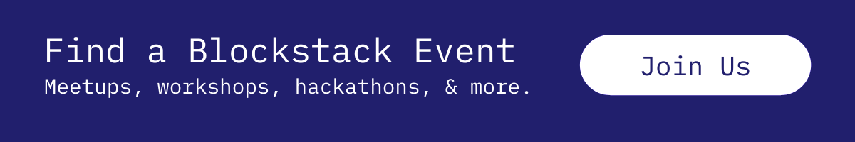 Blockstack Events