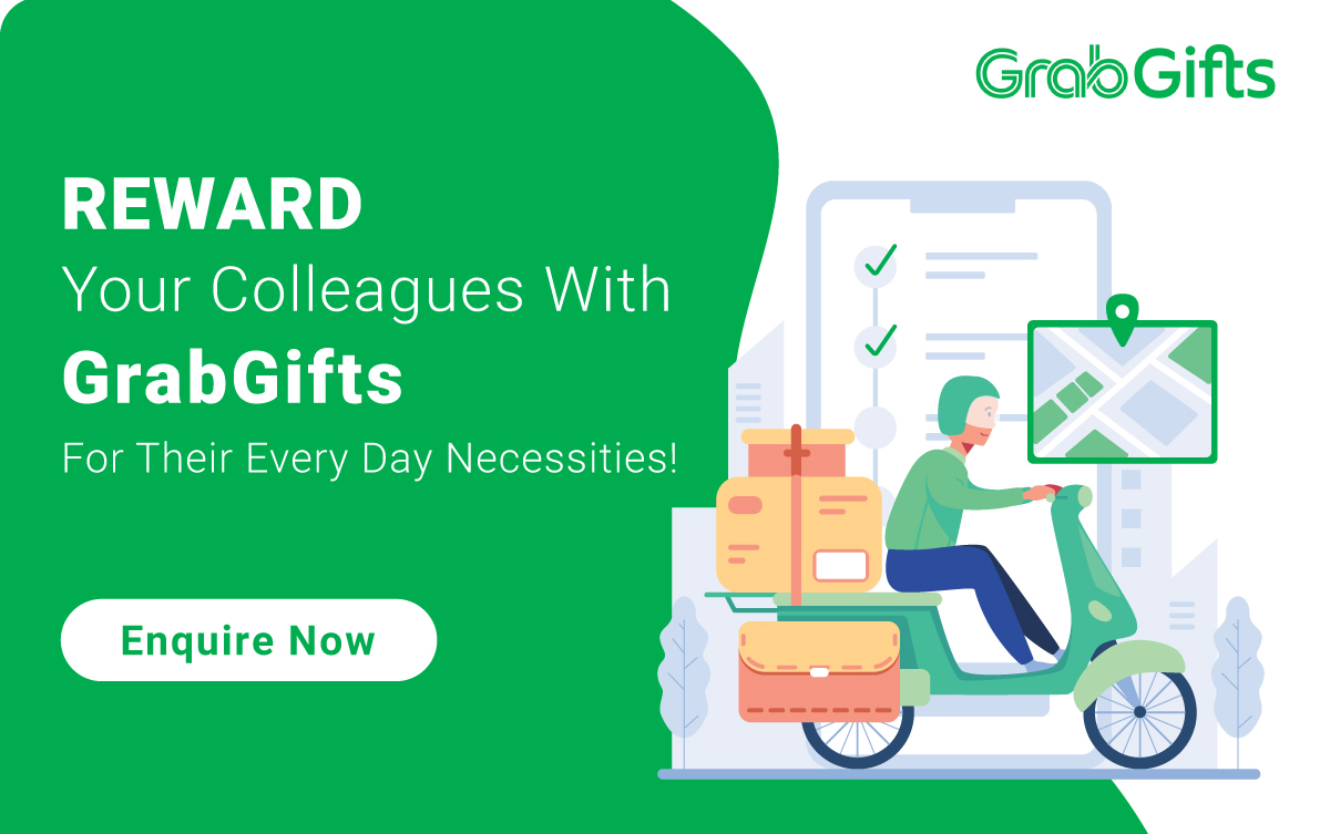 Reward your colleagues with Grab vouchers for their every day necessities!