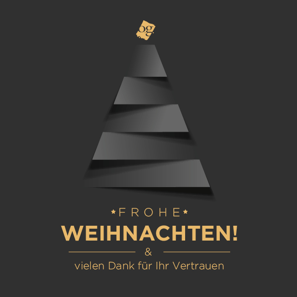 Frohe Weihnachten & vielen Dank für Ihr Vertrauen