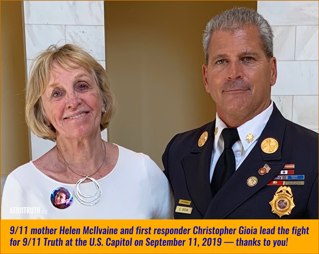 9/11 mother Helen McIlvaine and first responder Christopher Gioia
