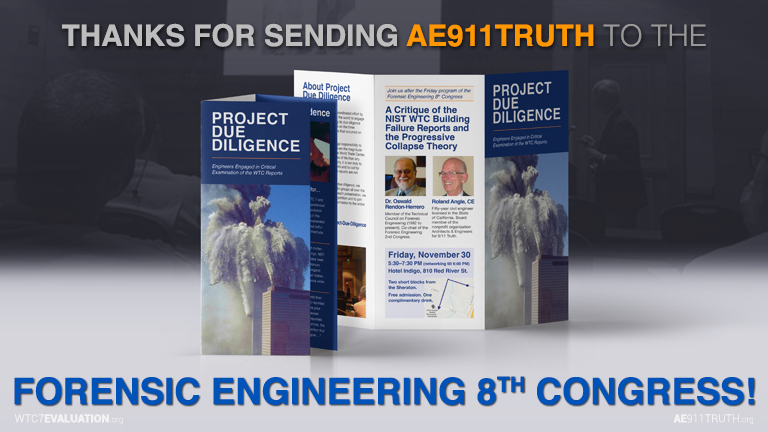 Thank you for your support of AE911Truth.  Without you, we wouldn't exist.
