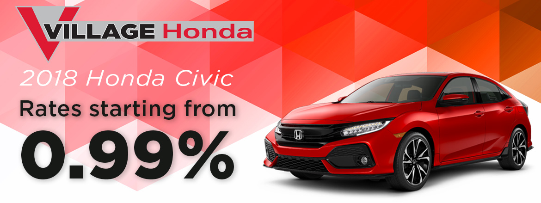 Honda Civic from 0.99%