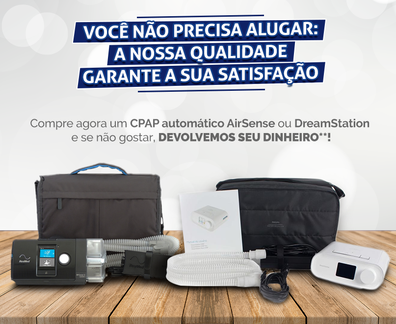 Compre um CPAP automático AirSense ou DreamStation