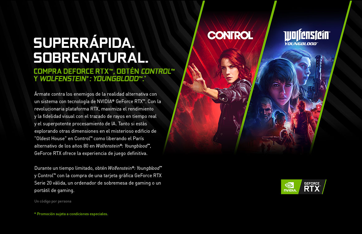 NVIDIA | Control & Wolfstein Youngblood