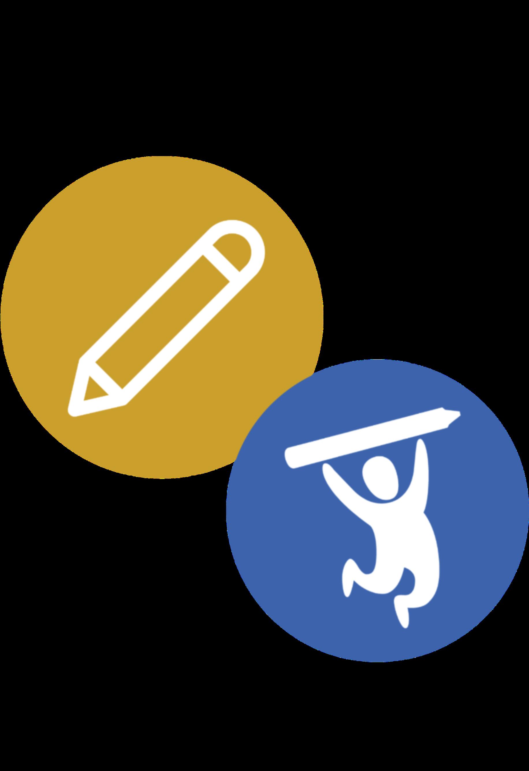 Pencil and School Tool Box Logo