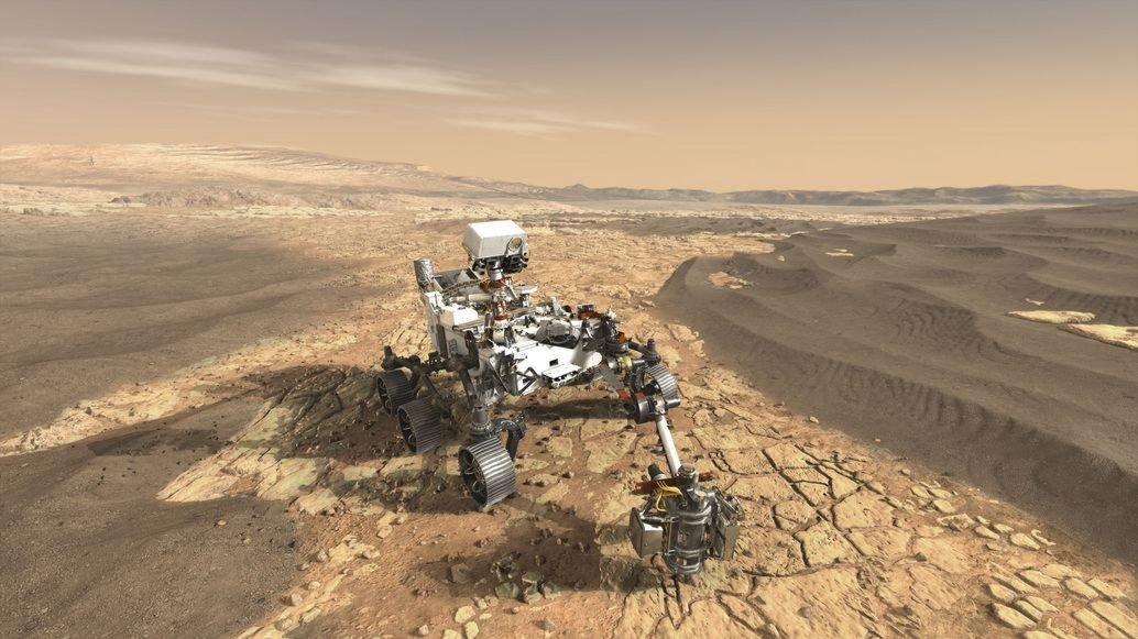 Mars rover artist rendering