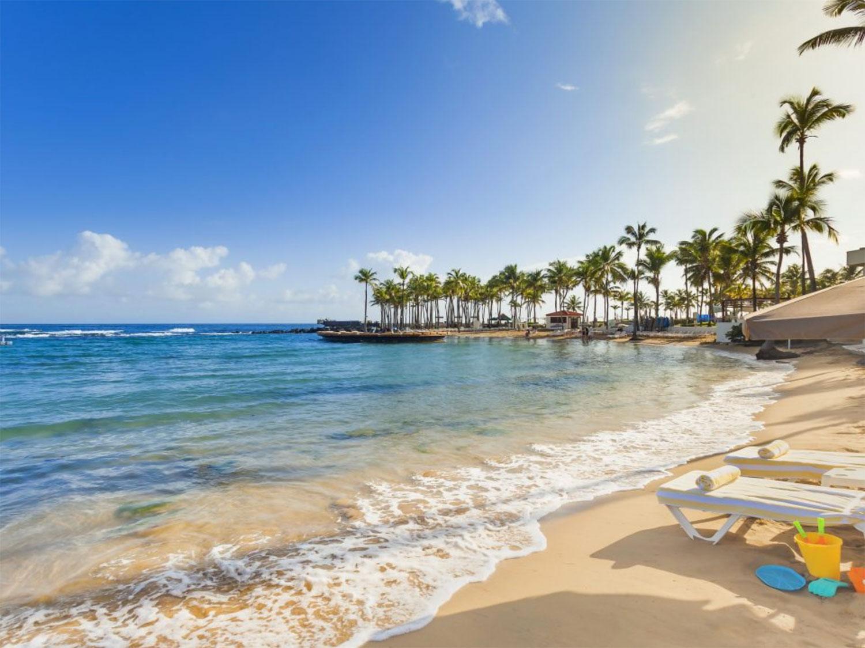 An island beach resort.