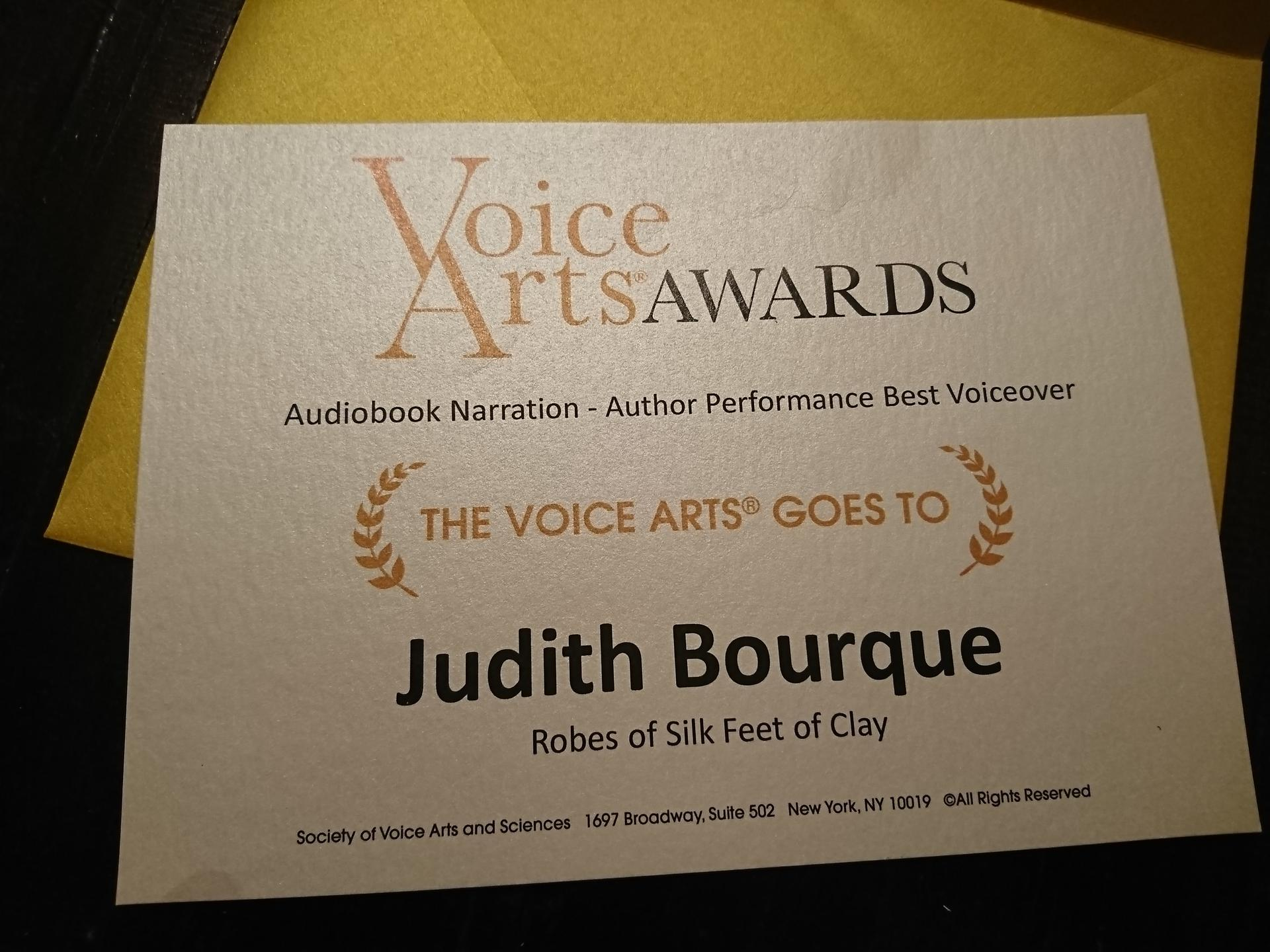 Voice Arts Award