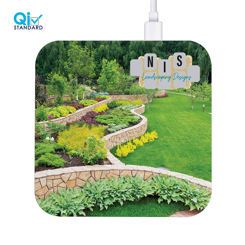 Ultra. 10W Square Dual USB Wireless Charger