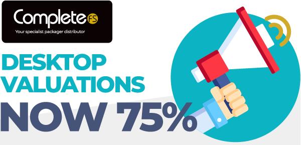 Desktop Valuations Now 75%