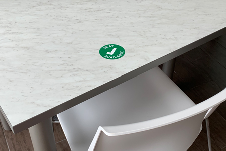 Seat Available Sticker in Dining Hall