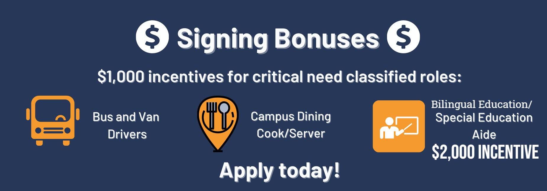 Signing Bonuses