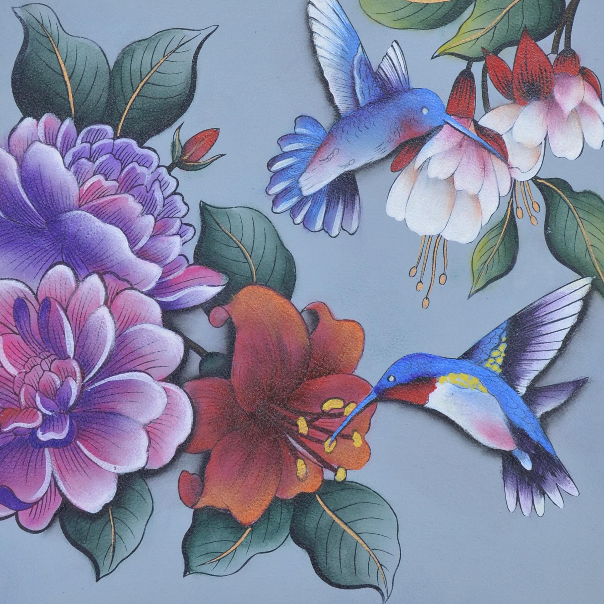 Birds, Flowers