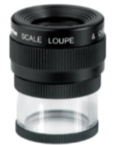 LOUPE - CONTACT LENS - 10x Mag with 0.6 in + 16mm scale