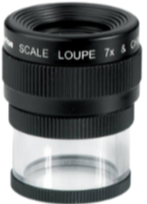 LOUPE - CONTACT LENS - 7x Mag with 0.6 in + 16mm scale