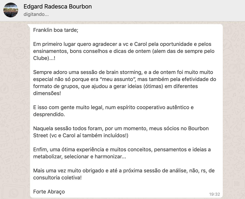 Depoimentos Edgard