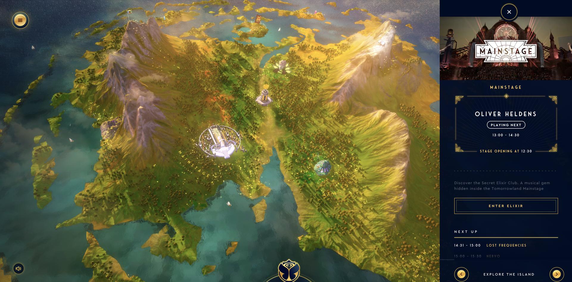 O mundo mágico do Tomorrowland Around The World - na foto, o Mainstage