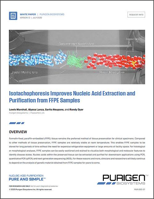 White Paper: Isotachophoresis Improves Nucleic Acid Purification
