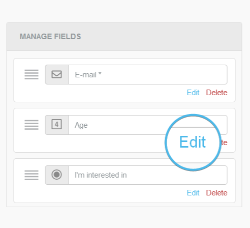 New Edit action available when managing fields in a form block