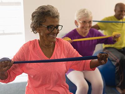 Hanover Place senior exercising
