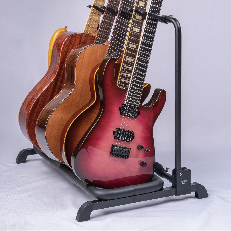 【Guitto】アコギもエレキも自由自在!仕切り可変型 複数本立てギタースタンド