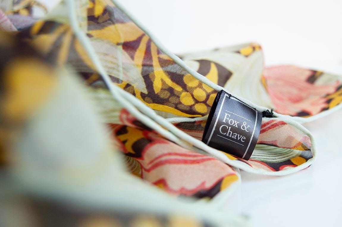 Fox & Chave silk scarves