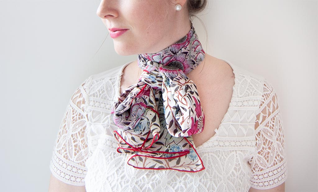 MORRIS BOURNE SILK SCARF by FOX & CHAVE