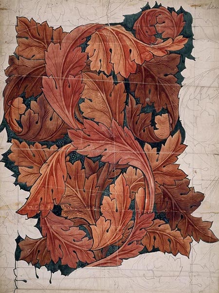 AUTUMN LEAVES DESIGN DRAWING