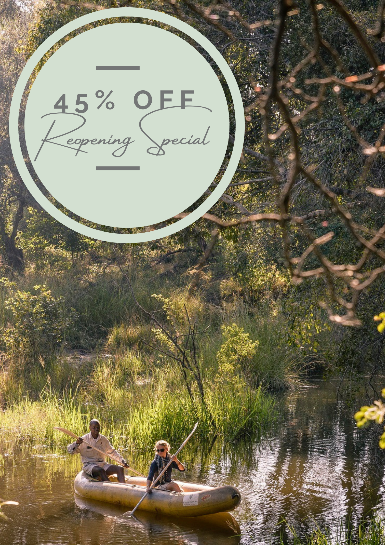 Sanctuary Retreats Reopening Special - 45% off STO