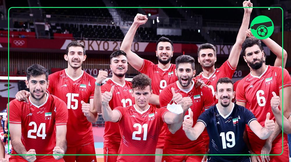 برد تیم ملی والیبال ایران در المپیک توکیو مقابل ونزوئلا