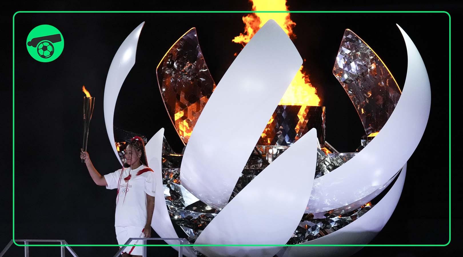 Naomi Osaka lights 2020 Tokyo Olympics cauldron