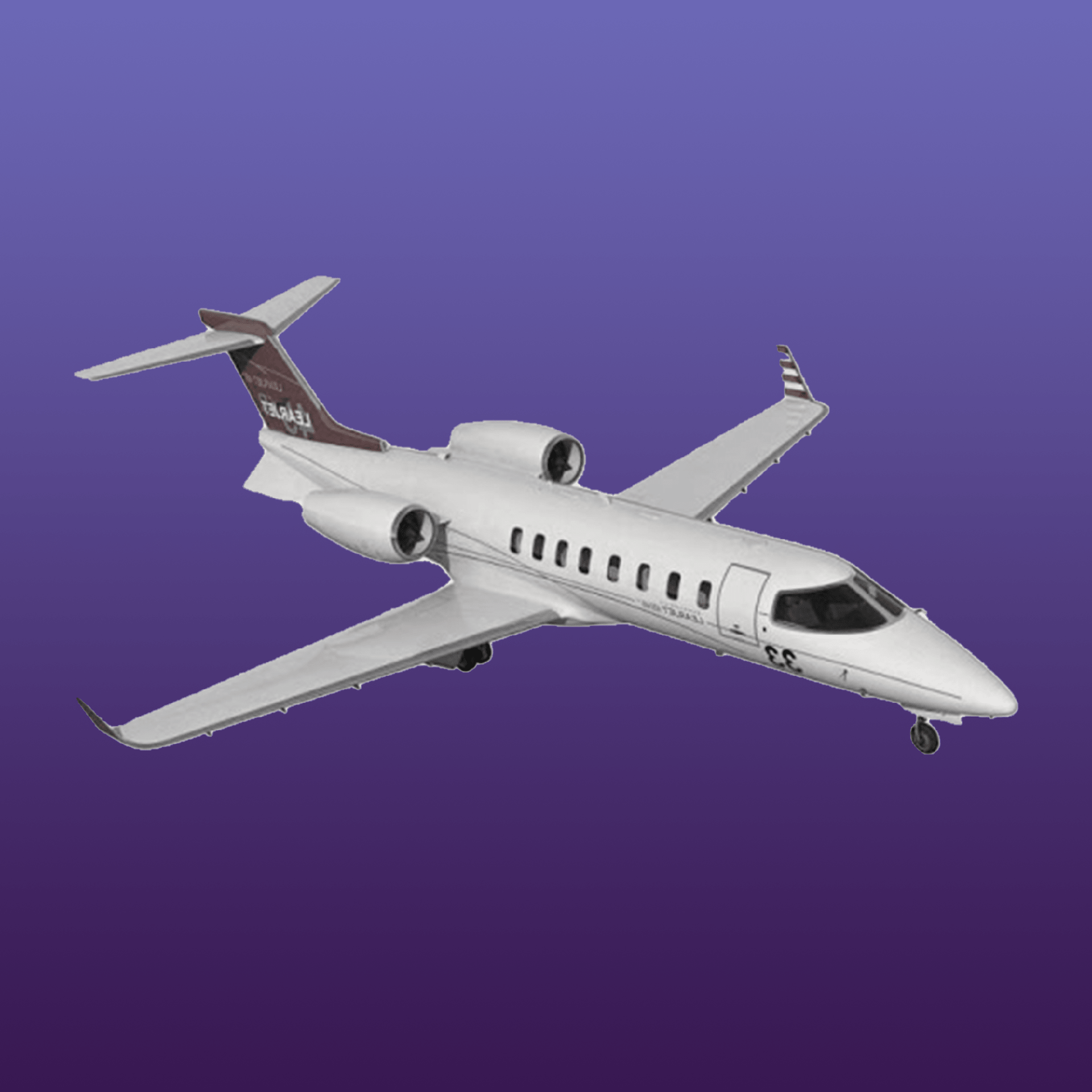 Picture of a Learjet